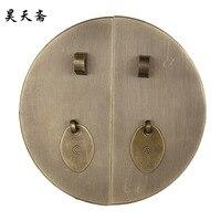 [ haotian צמחוני ] קלאסי עגול 28 סמ ידית סיני עתיק נחושת אבזרי נחושת HTK-017