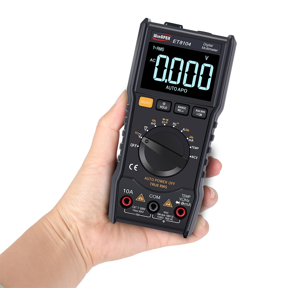 Multímetro Digital de medición automática multímetro AC/DC voltaje corriente capacitancia resistencia medidor pantalla linterna función probador
