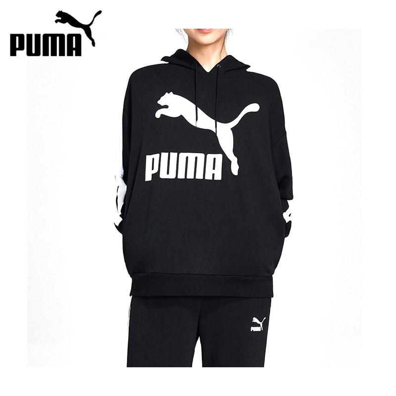 Original New Arrival PUMA Classics Logo T7 Hoody Women's  Pullover Hoodies Sportswear