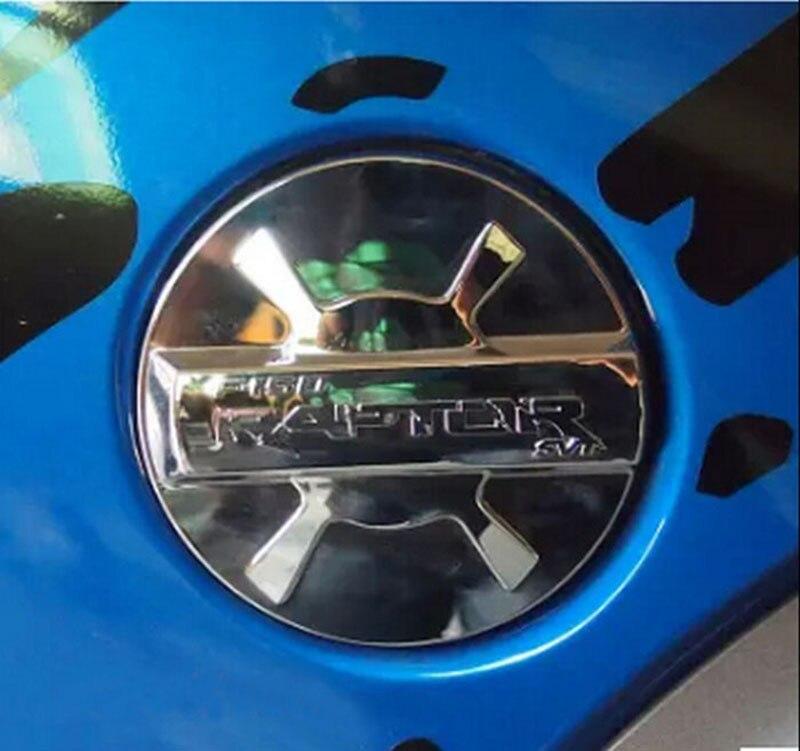 Auto Racing SVT Styling Brief Chrome Triple Stamm Kraftstoff Gas Kappe Tank Abdeckung Überzogene Trim für Ford F-150 F150 Raptor 2009-2014