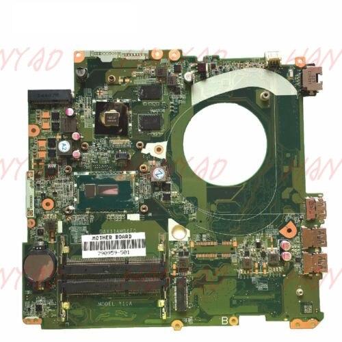790959-501 para HP 17-F M7-K 17-P placa base de computadora portátil DAY11AMB6E0 i7 840 M 2 GB placa base