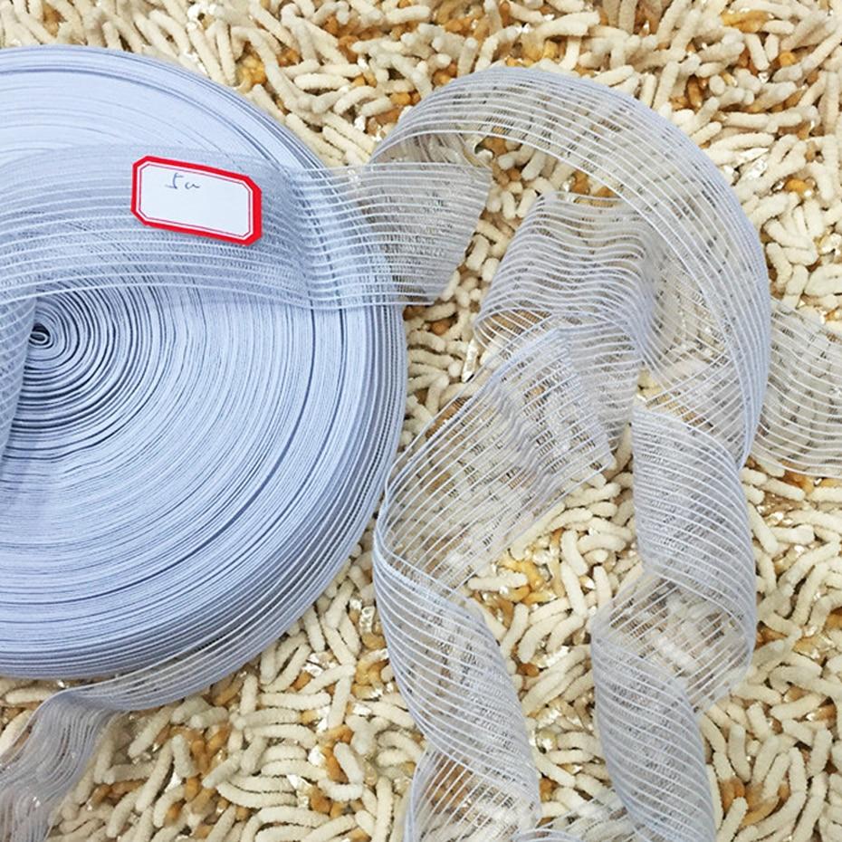 50 jardas 25mm/30mm/40mm/50mm elástico para costura roupa interior branco preto net elástico fita vestuário acessórios feitos à mão