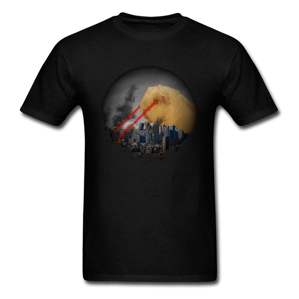 Camisetas europeas Crazy Guinea Pig Attacking Tokyo Mammoth Monster War camiseta para hombres moda suelta partes superiores nuevas camiseta hombres