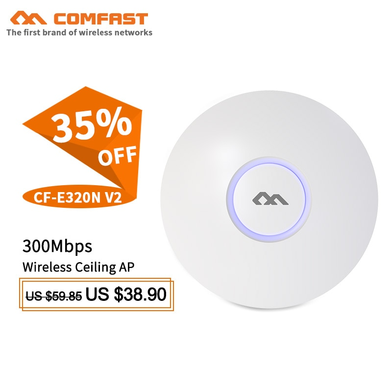 Comfast Wifi покрытие решение для отеля беспроводной потолок AP wifi маршрутизатор 300 м Wifi система AP 48 В POE Открытый DDWRT точка доступа AP