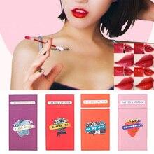 Nouveau rouge à lèvres étui à cigarettes coton-tige rouges à lèvres longue durée imperméable à leau cosmétiques pour les femmes