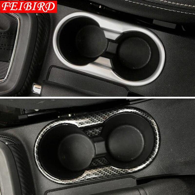 Para MG ZS 2018 2019 ABS Auto accesorio Soporte para vasos delantero decoración cubierta embellecedora plata mate/fibra de carbono