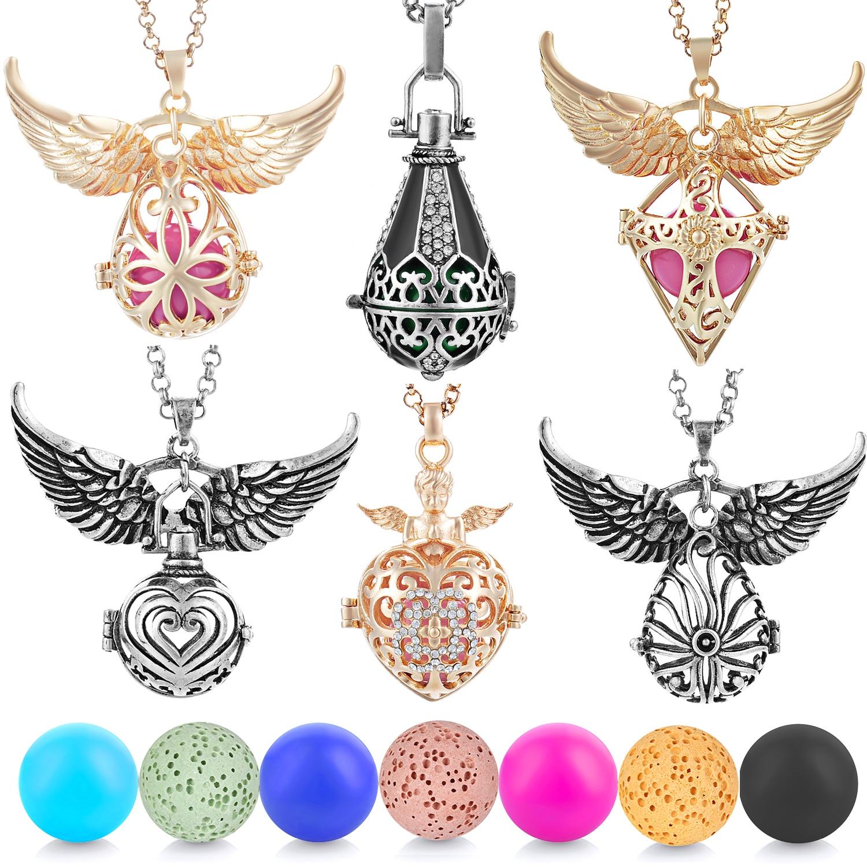6 diseños México campanilla de Ángel bola llamador medallón collar Vintage embarazo collar drop shipping VA-097