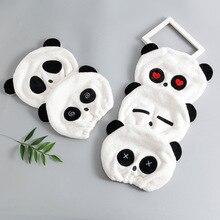 Panda chapeau de douche pour enfants   Serviette sèche pour enfants, séchage des cheveux Ultra-doux, chapeau de cheveux ronds, peluche en corail, serviettes en Patchwork de dessin animé