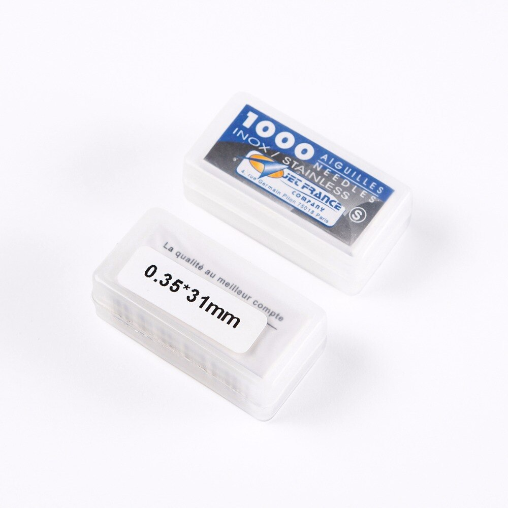 Venta al por mayor 10 cajas 1000 unids/caja agujas sueltas de acero inoxidable 316 de alto grado 0,35 x 31mm agujas profesionales de tatuaje envío gratis