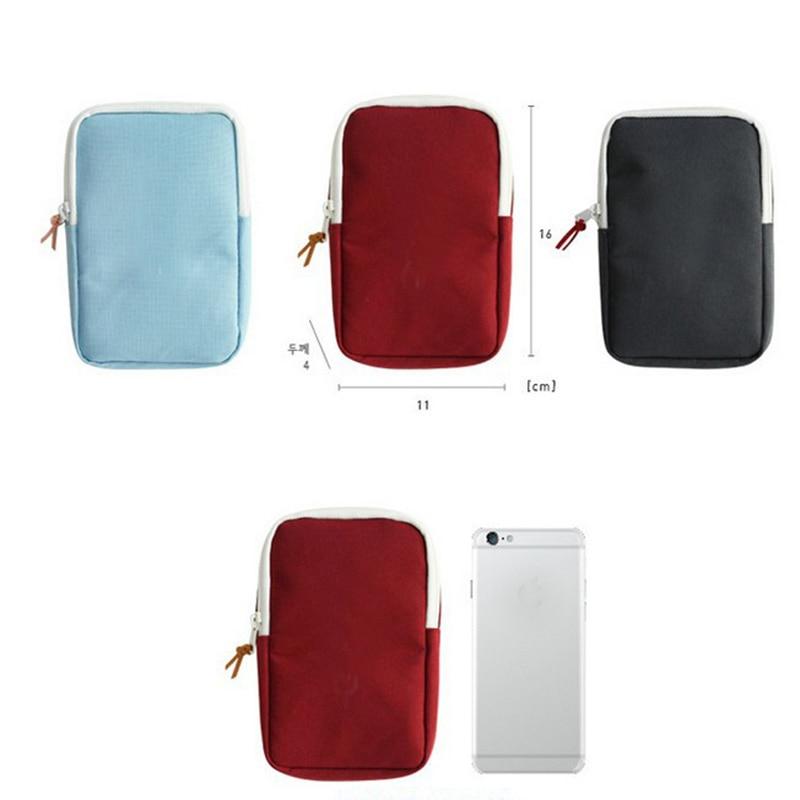 Mini bolsa de almacenamiento cuadrada con cierre y cremallera, estuche para auriculares, accesorios digitales, tarjetas SD, cargador tipo batería externa USB, organizador de viaje