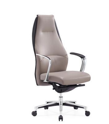 Silla ejecutiva de cuero con diseño de silla de oficina ergonómica Espalda alta Silla de ordenador.
