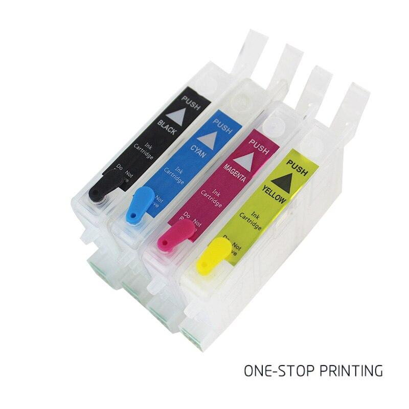 Para Epson Stylus T25 TX123 TX125 TX133 TX135 tinta de impresora cartucho rellenable con arco Chips T1351 T1332 T1333 T1334