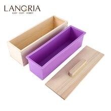 1200g/900g 비누 로프 금형 나무 상자 DIY 만들기 도구 사각형 실리콘 비누 금형 뚜껑 친환경 나무 상자