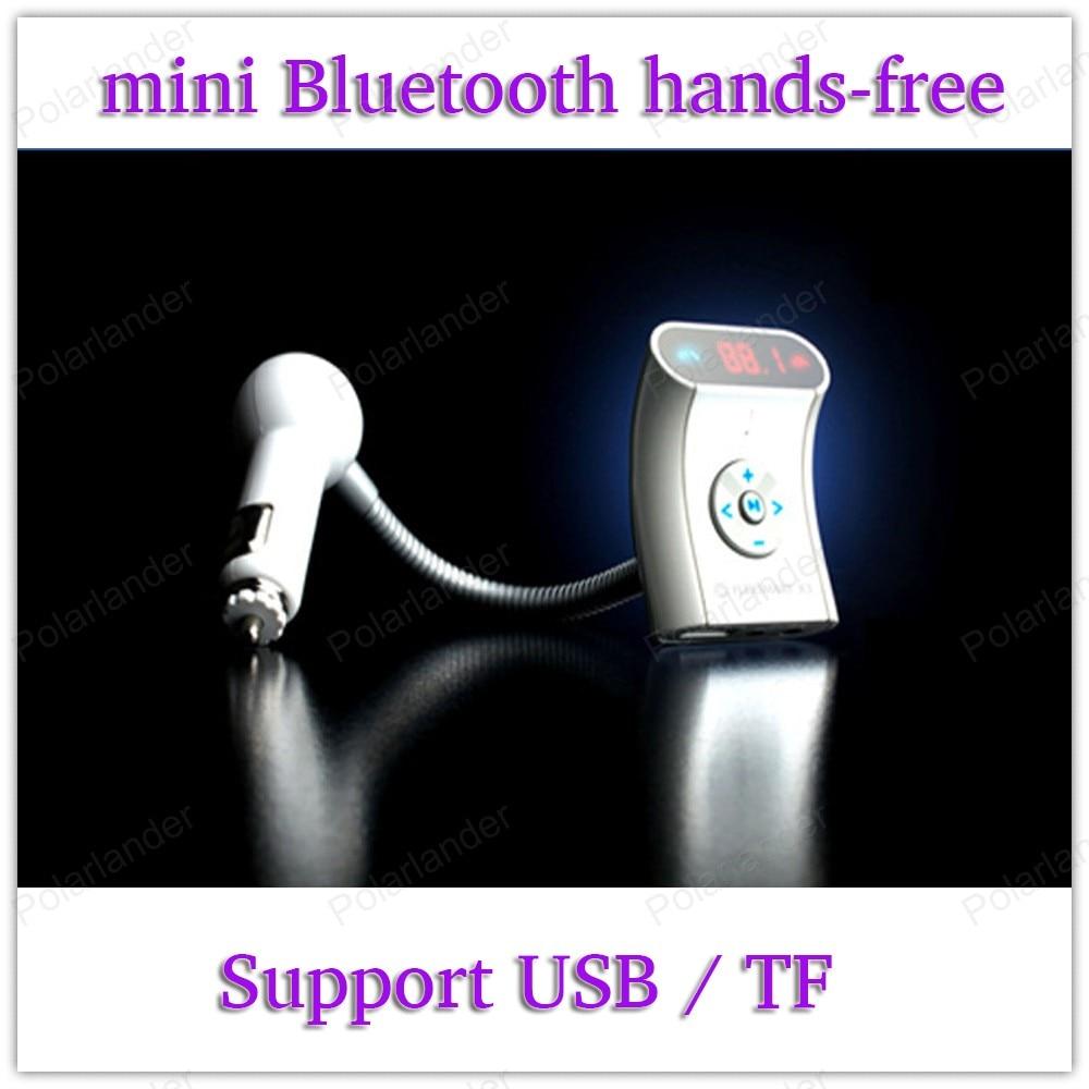 El nuevo mini Bluetooth manos libres coche soporte HFP/HSP, A2DP/AVRCP soporte USB/TF Bluetooth Kit de coche