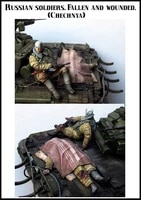 135 model kit resin kit russian soldiers fallen and wounded