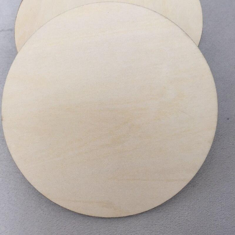 Деревянные круглые подставки пустая лазерная резка 3 мм толстые коврики для напитков 50 шт
