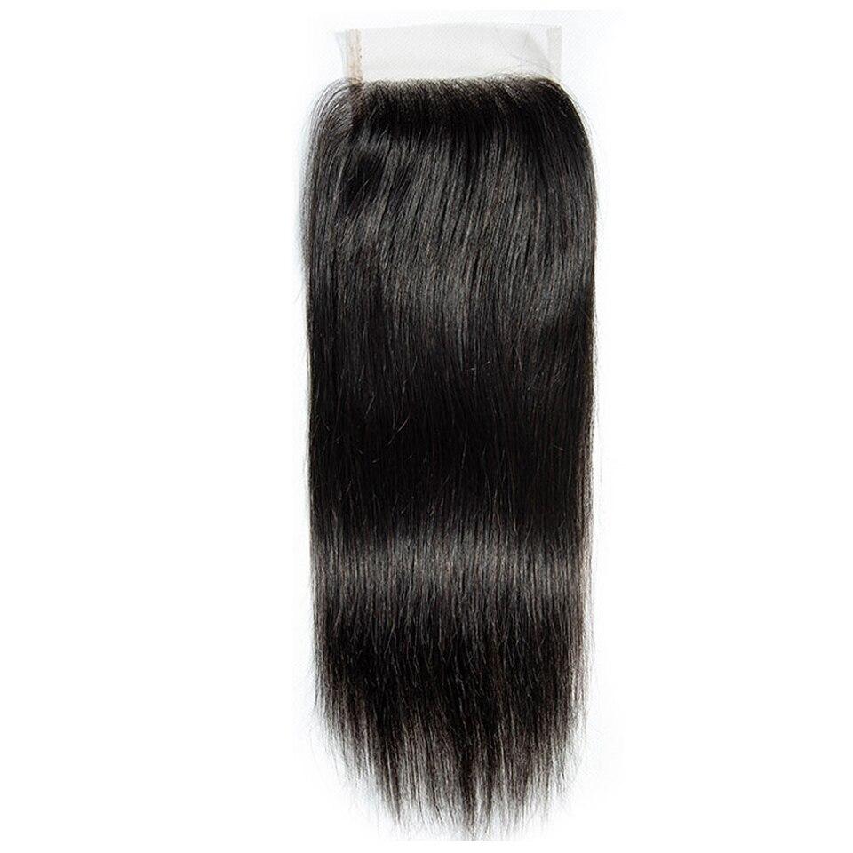 Haar Master 100% Brasilianische Menschliches Haar Gerade 8-20 Zoll 4x4 Spitze Verschluss 1B Nahen Freies Drei teil Natürliche Farbe Remy Schließung