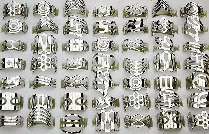 300pcs Fashion Adjustable Silver Plated Enamel Glaze Alloy Rings For Women Men Whole Jewelry Bulk Lots Free Shipping  RL129
