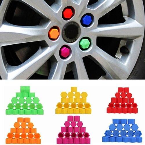 20 Pcs/set  hot sale  19mm Silicone Car Wheel Nut Screw Cover Car Rims Exterior Bolt Caps