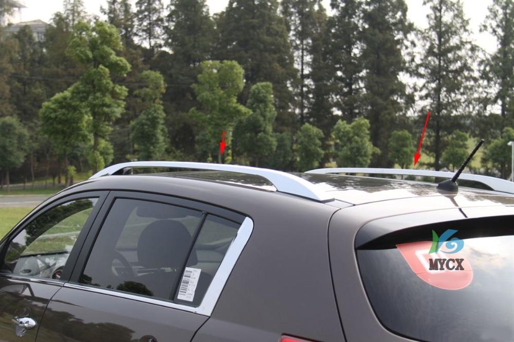 Для Kia Sportage 2010 2011 2012 2013 2014 багажник на крышу из алюминиевого сплава поперечные рейки для багажника
