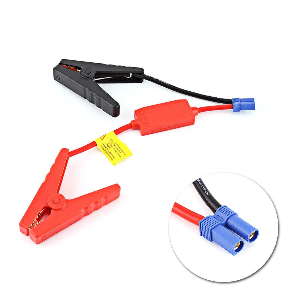 Conector de tomada cabo de ligação de emergência impulsionador para ligação da bateria de carro automático saltar start evitar a carga reversa novo