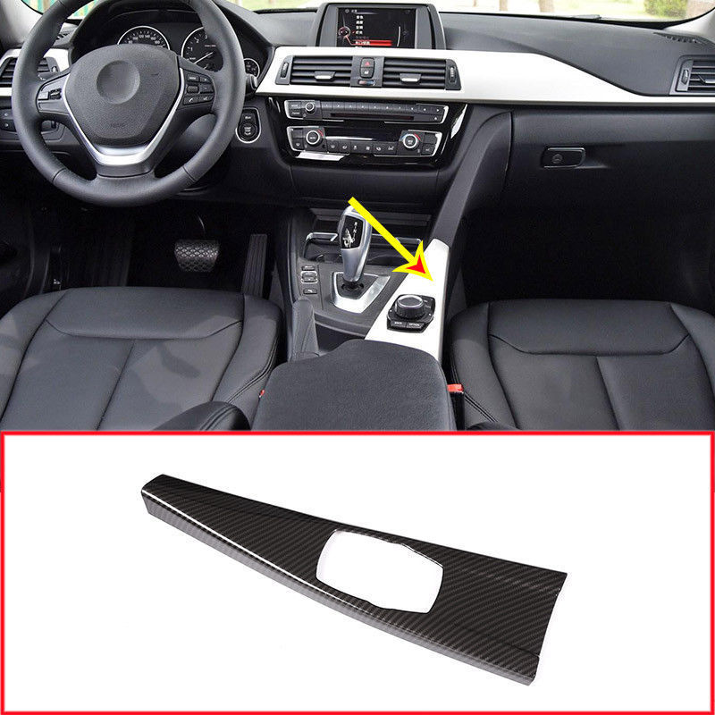 1 Uds carbono estilo de fibra coche Multimedia Marco de Panel para BMW Serie 3 F30 316, 318 de 320 accesorios de coche Interior