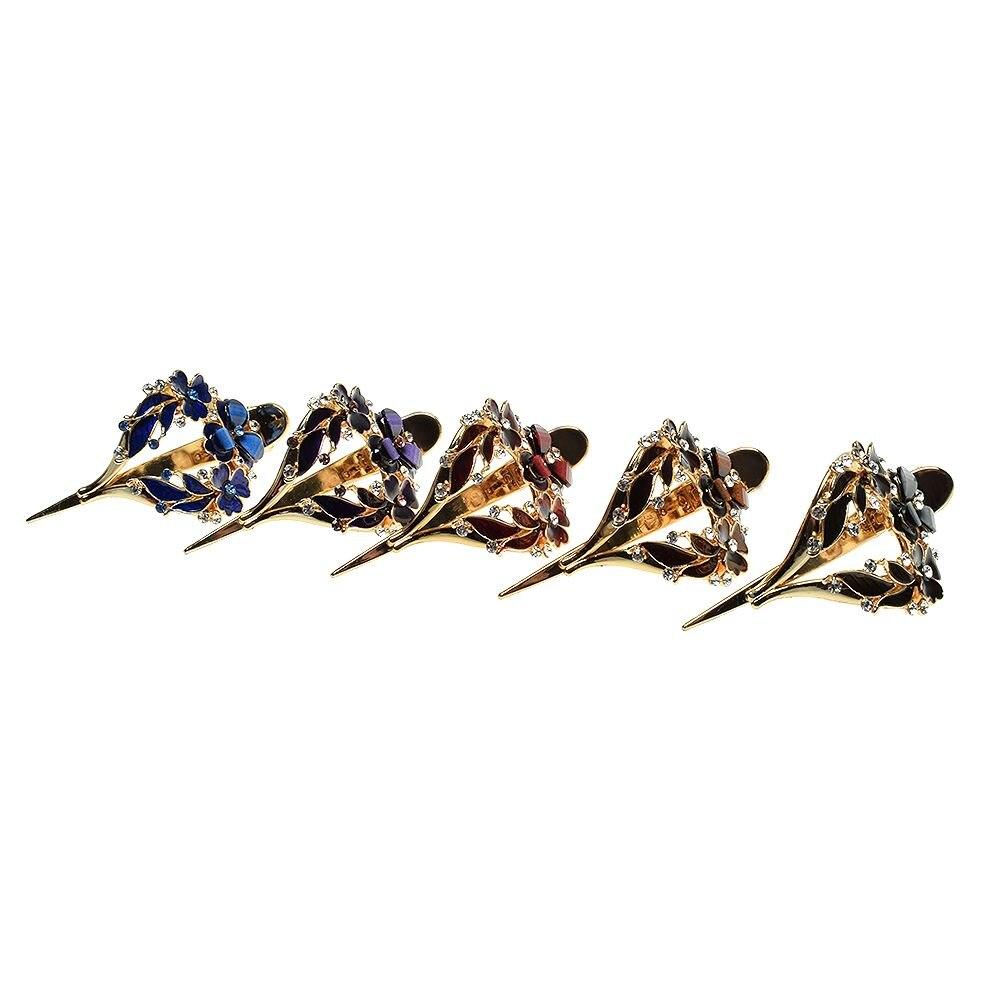 1 piezas de Corea Imitiation flor Clip de pelo pinza de cocodrilo de Bling strass cristal pinzas Barrette para el pelo