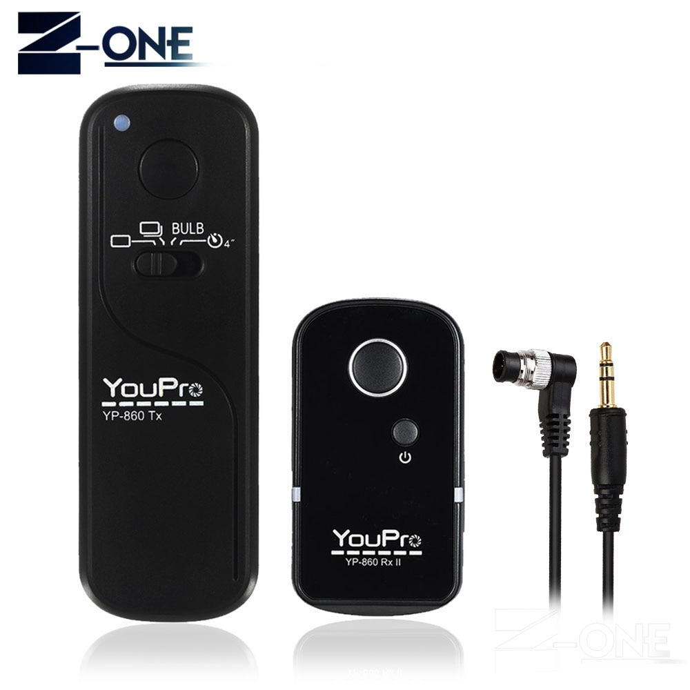 YP-860II/DC0 inalámbrico mando con control remoto de liberación para Nikon D810 D800 D800E D700 D300 D4 D2 D1 D200 N90s F100 F90 F90X D3