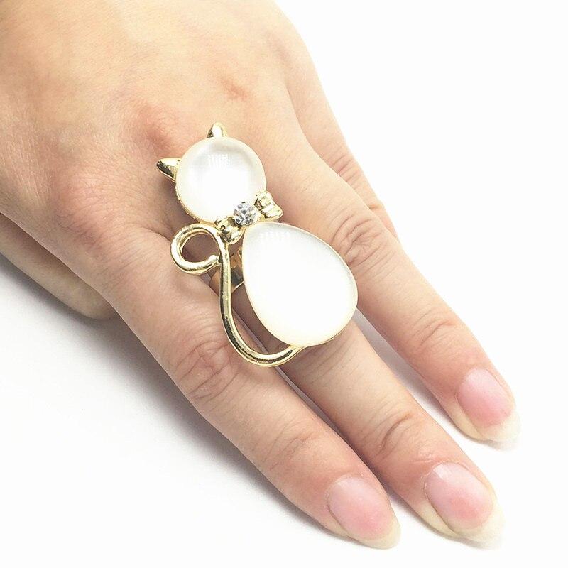 6 pcs Modo vrouwen ouro 2016 gato olho de gato de cristal ringen, aangeboden é geschikt voor diversificada partijen dragen/gratis verzending