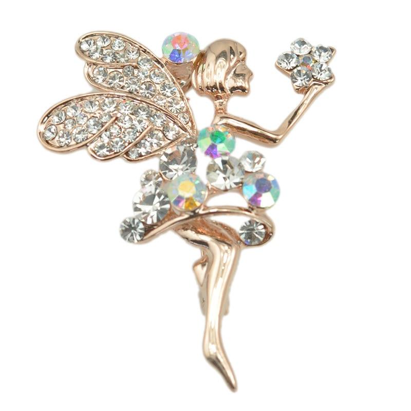 Nova moda charme menina liga broche bailarina dança menina broche feminino jóias presente doce broches