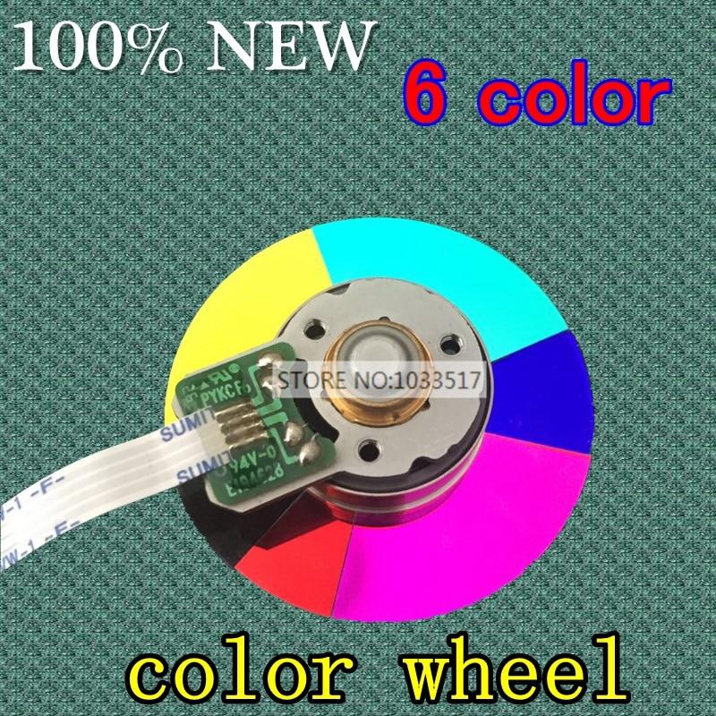 جهاز عرض عجلة ملونة ، قطر 40 مللي متر ، لـ optoma HD703 EP761 DT3603 ، 6 ألوان