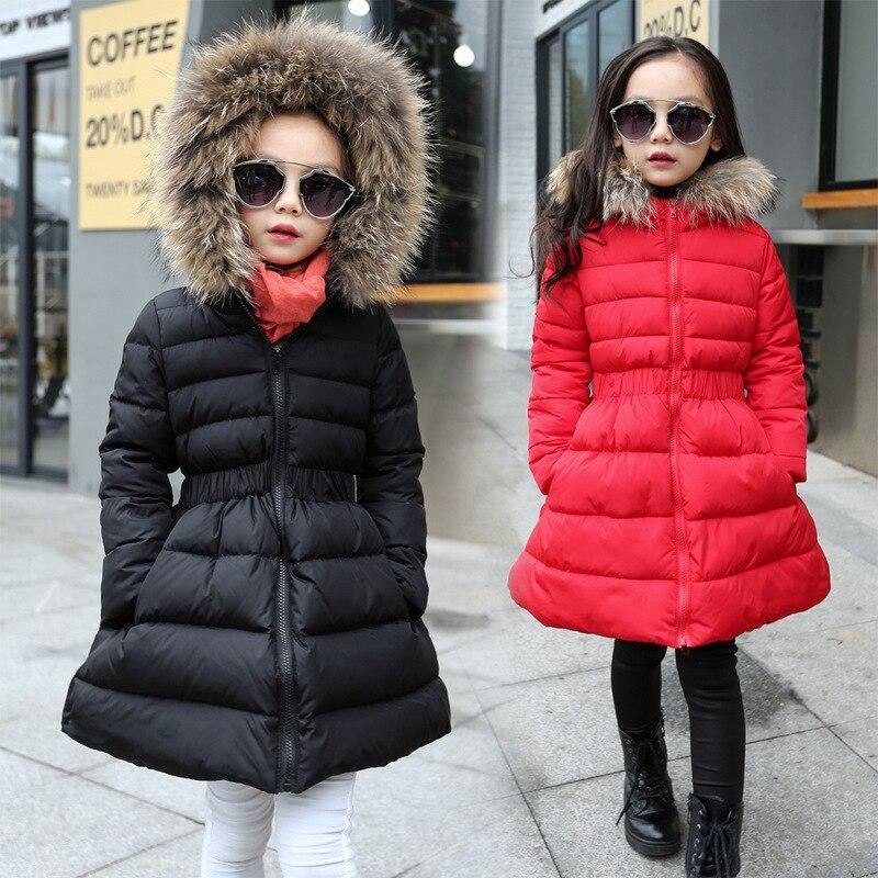 2019 chaqueta de invierno acolchada de algodón para niñas princesa breve Puff abrigos con capucha para niños ropa de abrigo para niños