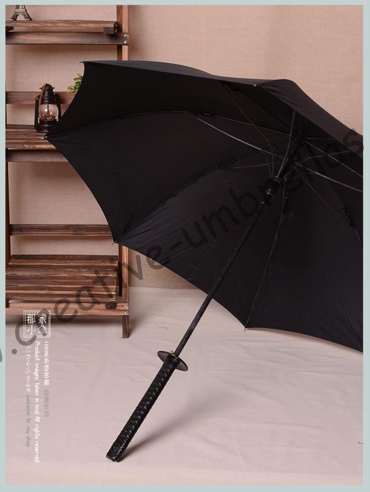 Mango de espada Samurai, katana mini paraguas de golf Wolverine auto open mantis pies antiviento anti-trueno fibra de vidrio Caballero al aire libre