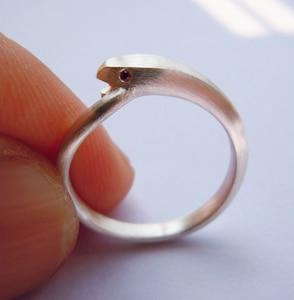 Genuine 925 Sterling Silver Charm Snake Ring
