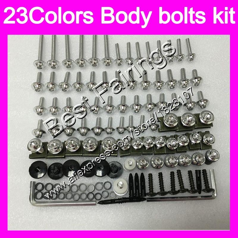 Tornillos del carenado kit completo de tornillos para Aprilia RS4 125 RS125 06 07 08 09 10 11 RS 125, 2006, 2007, 2008 10 2011 de cuerpo completo tornillos tuercas