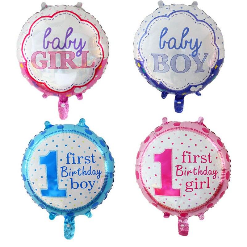 Baby 1 Ersten Geburtstag Junge Mädchen Ballons Kinder Ein Jahr Alt Geburtstag Ballon Folie Anzahl Ballons Kinder Party Dekorationen Geschenk