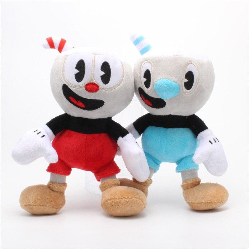 25cm Abenteuer Spiel Cuphead Plüsch Spielzeug Mugman Die Teufel Legendären Chalice Plüsch Puppen Spielzeug für Kinder Geschenke