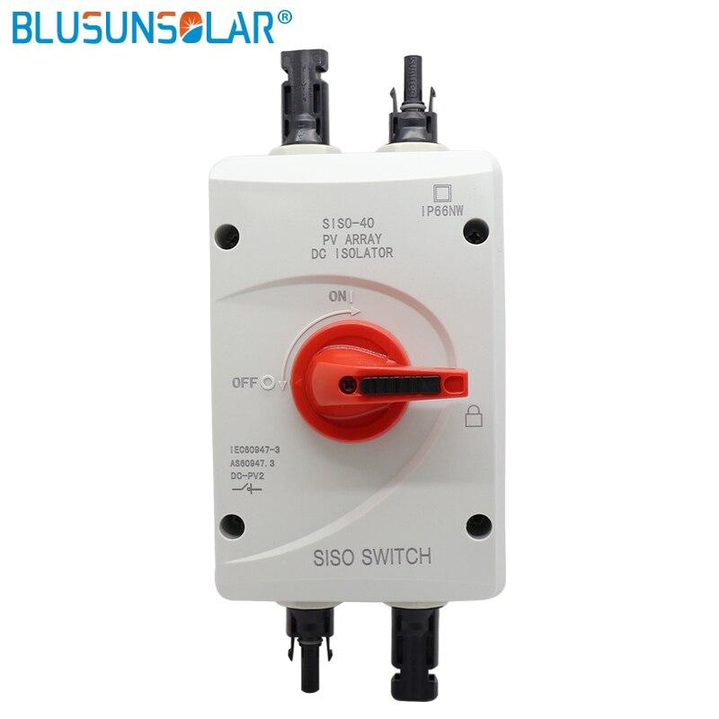 SISO-40 الشمسية الكهربائية حماية DC 1200VDC المعزل التبديل مع 2 أزواج PV موصلات ل الشمسية نظام الطاقة الشمسية