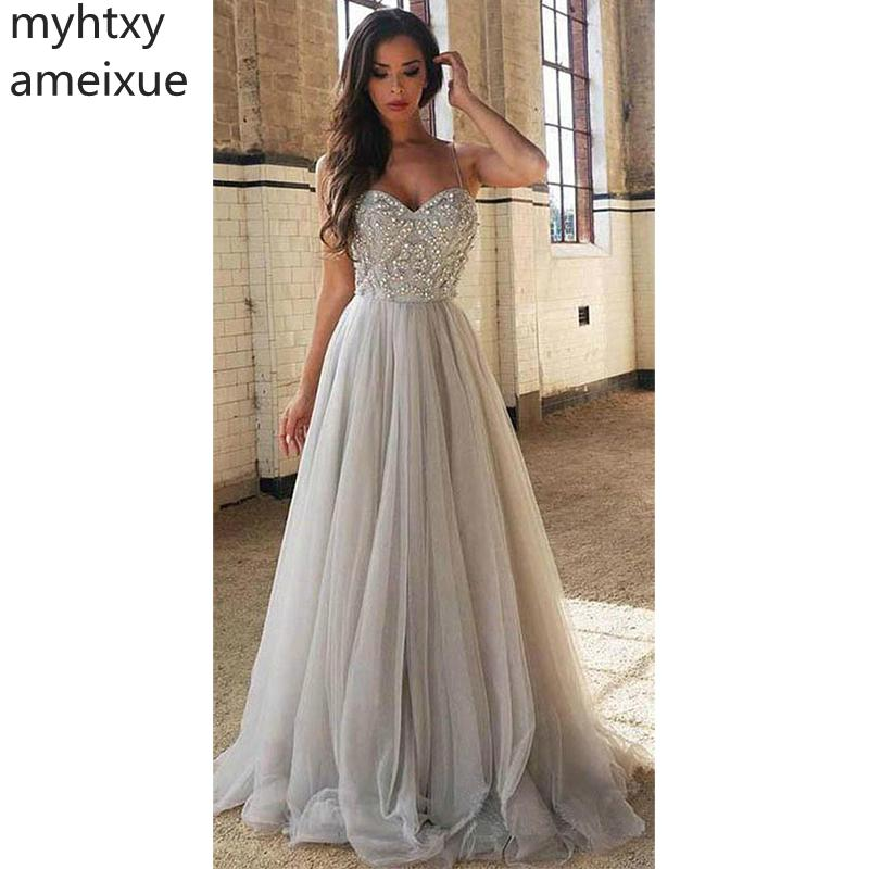 Simple 2020 Sexy Plus Size Evening Dress Sweetheart Beaded Tulle Prom Dress Beadings A-line Evening Party Dress Evening Gowns фото