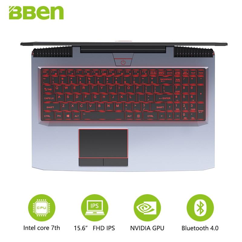 "BBEN G16 de juegos portátiles de 15,6 ""IPS preinstalar Win10 Tablet GTX1060 Intel Core i7 7700HQ 8G/16G/32G RAM 256G/512G SSD de 1 TB/HDD de 2TB"