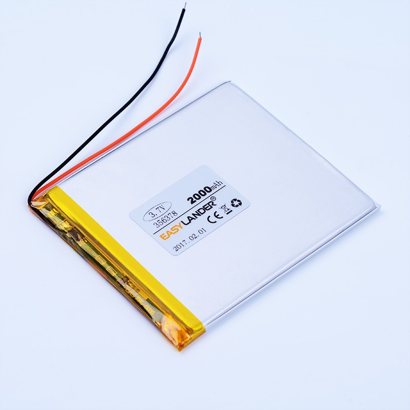 356378 3,7 V 2000mAh li-polímero Li-ion batería de litio para Tablet PC PDA DVD E-book banco de juguete 356578 ebook inves wibook 660