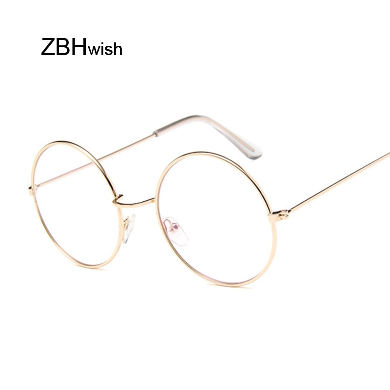 Gafas redondas Vintage modernas para mujer, gafas ópticas transparentes con montura metálica, gafas ópticas transparentes, gafas para mujer