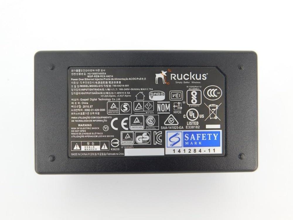 Ruckus Wireless Zoneflex PoE Injector 902-0162-XX00 48V 0.5A 24W (alike 902-0162-US00 or 902-0162-EU00) 2x10/100/1000 Mbps enlarge