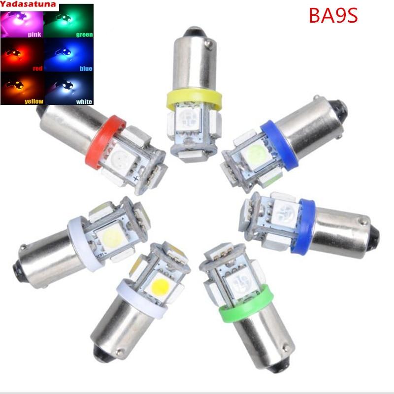 LED Pet4w BA9S azul /rojo/blanco calido/verde / amarillo /blanco 5x50smd 1,5 w...