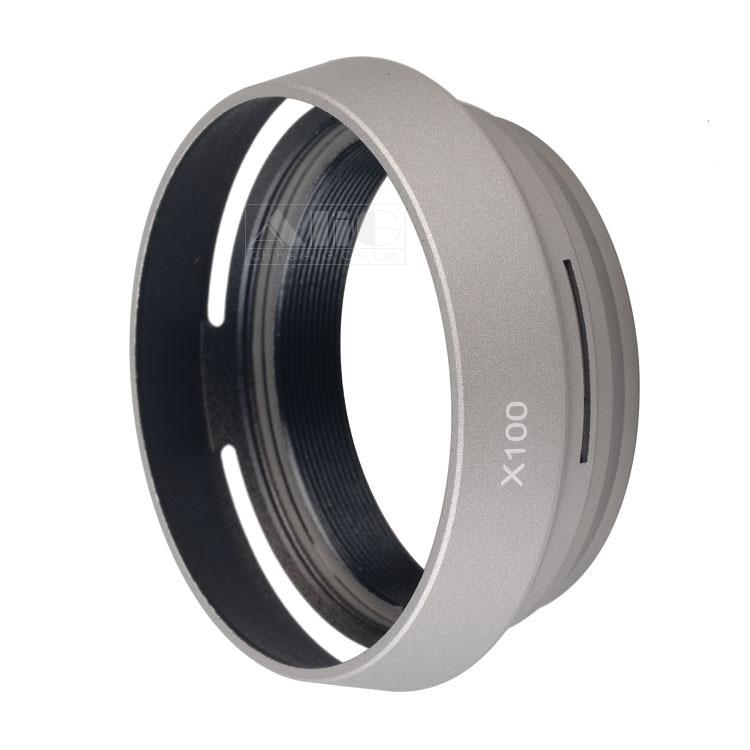 Adaptador de lente de Metal plateado/Negro la-49 X100 + cubierta de lente...