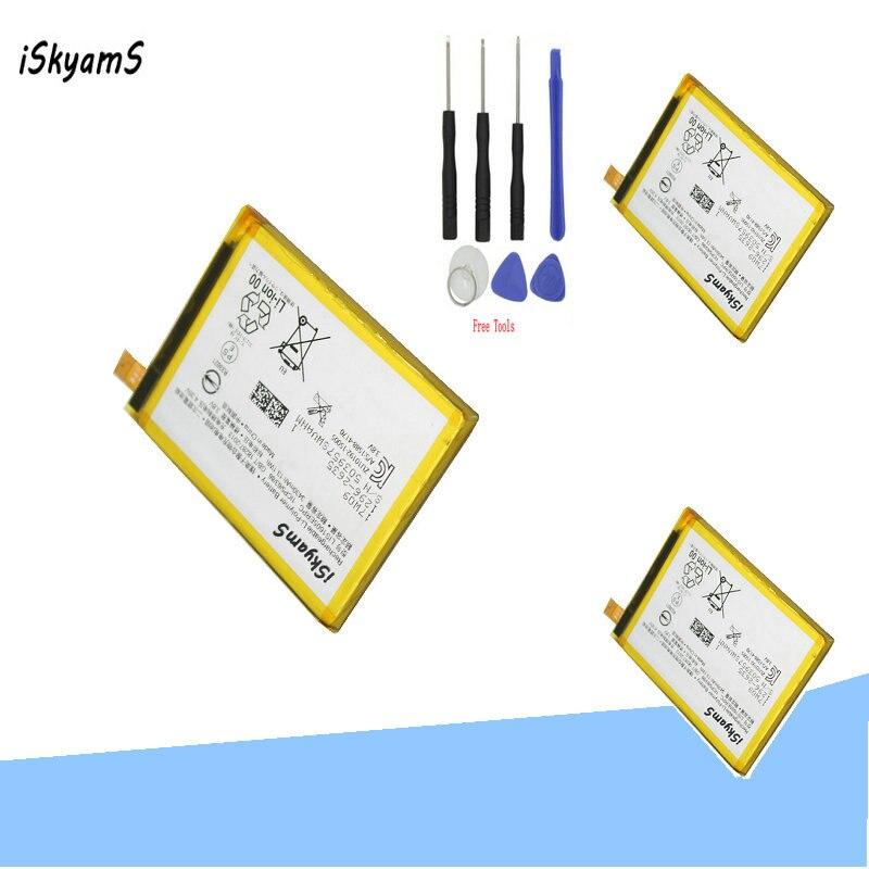 Iskyams 3X3430Mah LIS1605ERPC Smartphone Vervanging Batterij Voor Sony E6883 Z5P Dual E6853 Z5 Premium Z 5 plus + Tool
