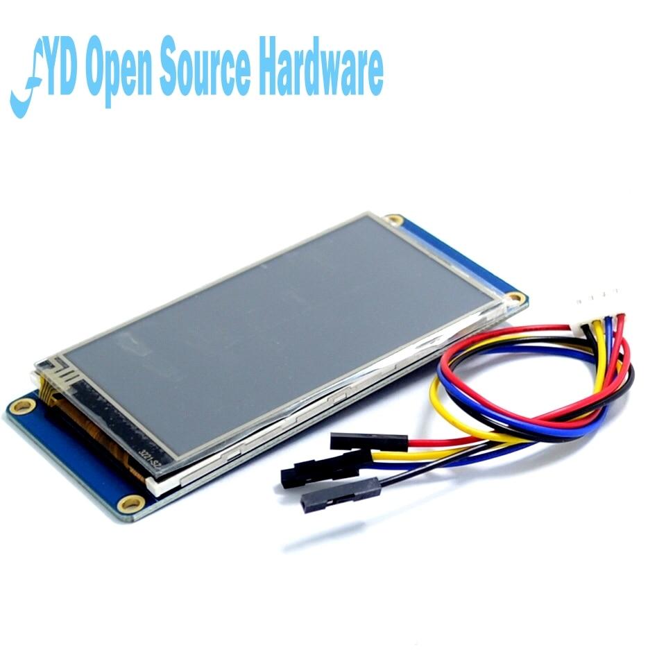 Nextion-شاشة لمس LCD HMI TFT مقاس 5 بوصات تعمل باللمس ، وحدة واجهة للإنسان والآلة ، نواة HMI باللغة الإنجليزية USART UART