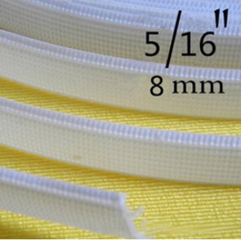 Cubierta blanca de 5 yardas de poliéster/plástico para accesorios de lencería, accesorios de costura de 5/16 para hacer vestidos de boda