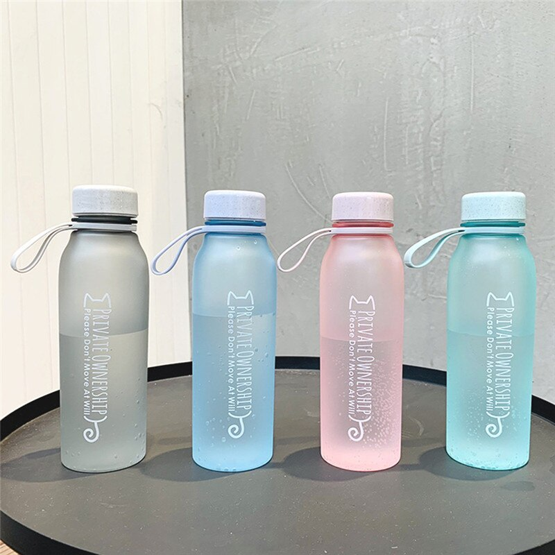 BPA botella de agua libre de plástico deporte Scrub a prueba de fugas beber mi botella portátil de moda de agua de perro portátil