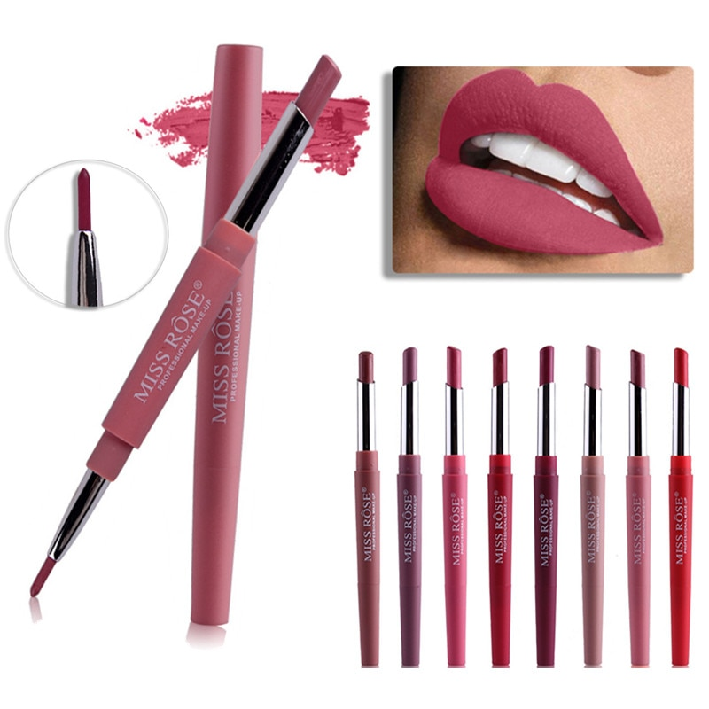 Lápiz labial de 15 colores, lápiz labial impermeable de larga duración, lápiz labial rojo, maquillaje desnudo, cosméticos para mujer